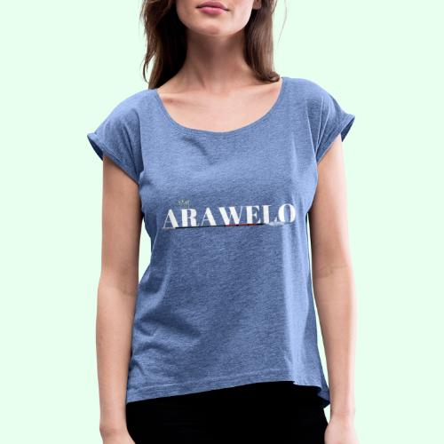 The ARAWELO Collection Gold Crown - Women's T-Shirt with rolled up sleeves
