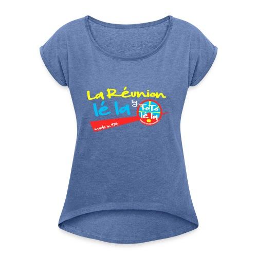 Collection La Réunion lé la by TOTO Lé La - T-shirt à manches retroussées Femme
