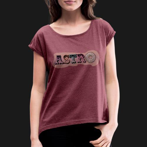 ASTRO - T-shirt à manches retroussées Femme
