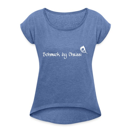 BF019D82 2B93 485F 98AD 76DDC25E7769 - Frauen T-Shirt mit gerollten Ärmeln