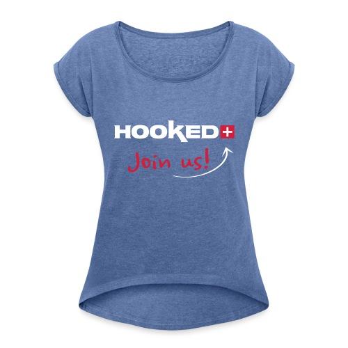 Forkle - T-skjorte med rulleermer for kvinner