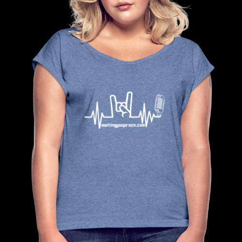 Le logo et l'adresse - T-shirt à manches retroussées Femme