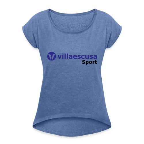 Villaescusa Sport Logo - Camiseta con manga enrollada mujer