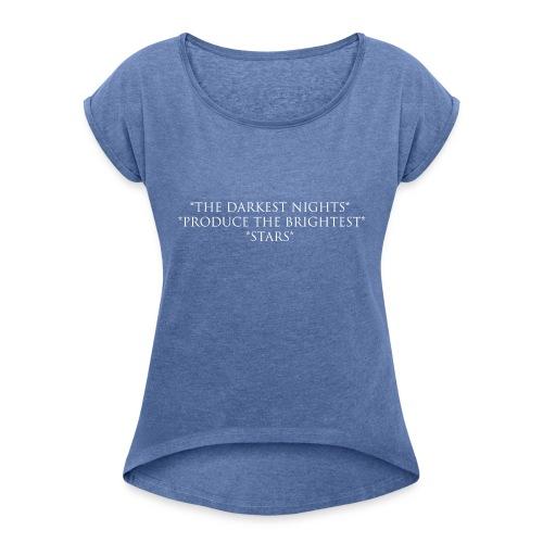 Night_W - T-shirt med upprullade ärmar dam