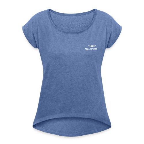LOGO On WHITE - Maglietta da donna con risvolti