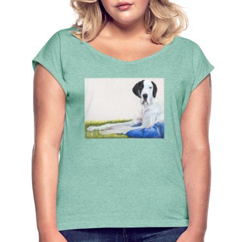 Grand danios harlequin - Dame T-shirt med rulleærmer