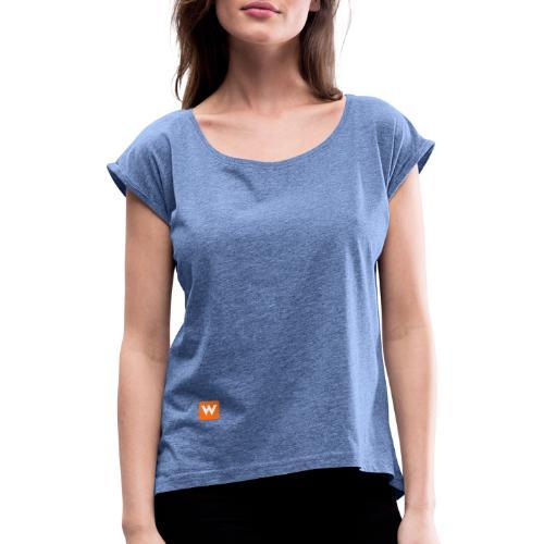 warrify iconic edition - Frauen T-Shirt mit gerollten Ärmeln