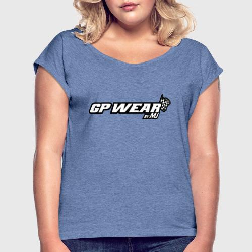 GPWear - Koszulka damska z lekko podwiniętymi rękawami