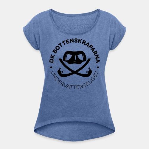 loggaren - T-shirt med upprullade ärmar dam