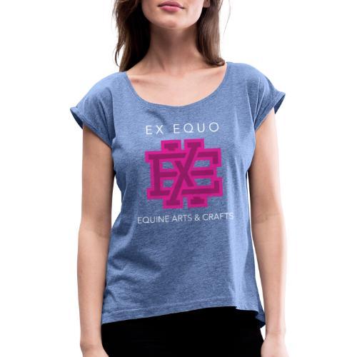 EX EQUO Arts and Crafts - Vrouwen T-shirt met opgerolde mouwen