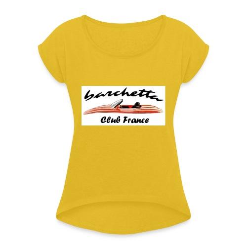 barchetta - T-shirt à manches retroussées Femme