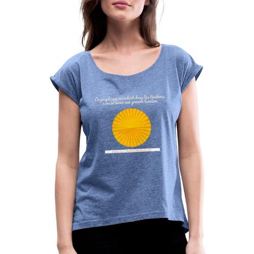 Vacances - T-shirt à manches retroussées Femme