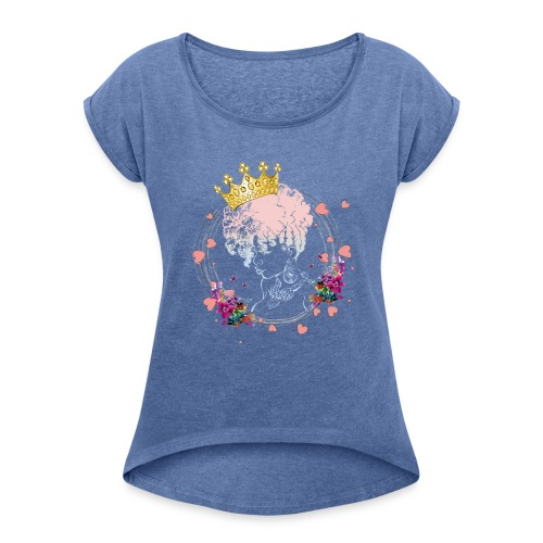 Queen Olori - Women's T-Shirt with rolled up sleeves