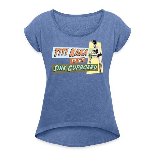 titikaka shirt1 trans - Vrouwen T-shirt met opgerolde mouwen