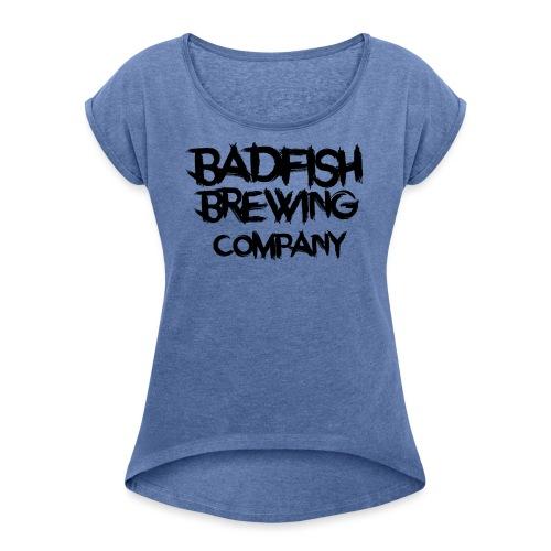 BadFish + Logo - T-shirt à manches retroussées Femme