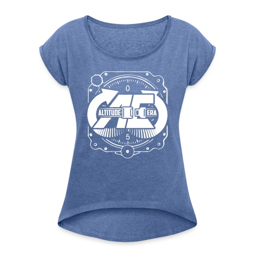 Altitude Era Altimeter Logo - Women's T-Shirt with rolled up sleeves