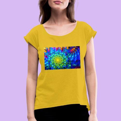 Astratto luminoso - Maglietta da donna con risvolti