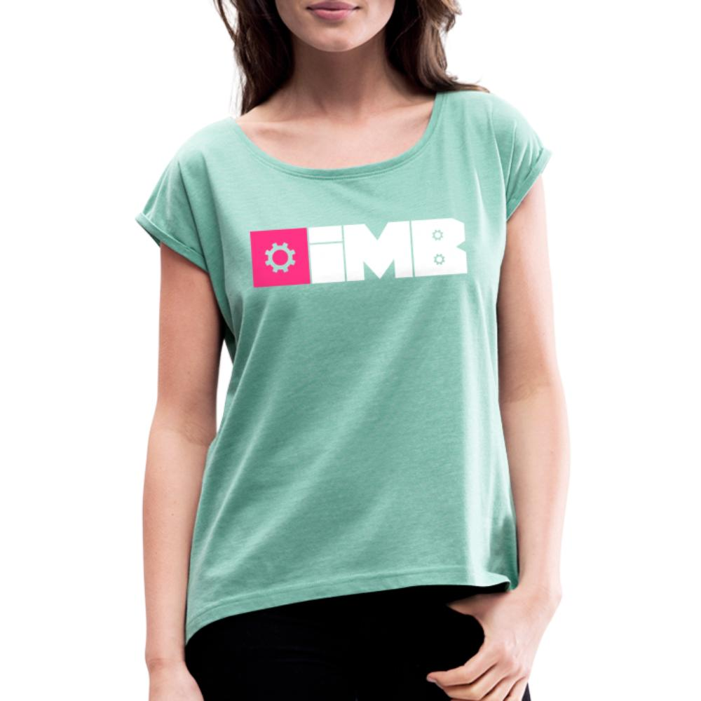 IMB Logo (plain) - Women's T-Shirt with rolled up sleeves - heather mint