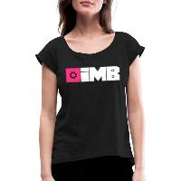 IMB Logo (plain) - Women's T-Shirt with rolled up sleeves - black