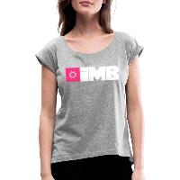 IMB Logo (plain) - Women's T-Shirt with rolled up sleeves heather grey