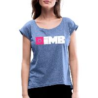 IMB Logo (plain) - Women's T-Shirt with rolled up sleeves - heather denim