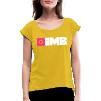 IMB Logo (plain) - Women's T-Shirt with rolled up sleeves mustard yellow