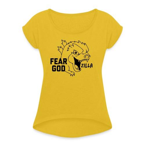 Godz T-shirt - Maglietta da donna con risvolti