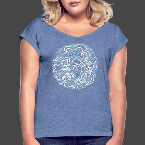 Satchitananda - Frauen T-Shirt mit gerollten Ärmeln