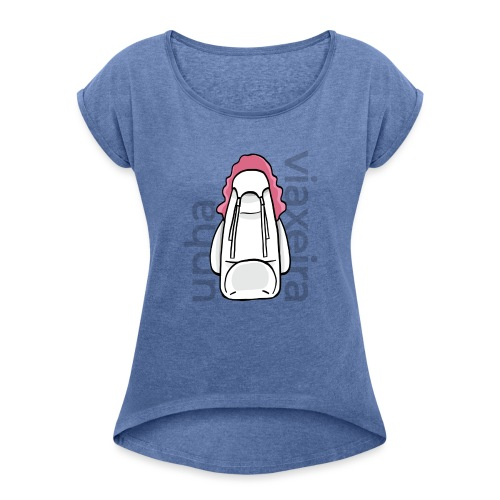 Unha viaxeira - Camiseta con manga enrollada mujer