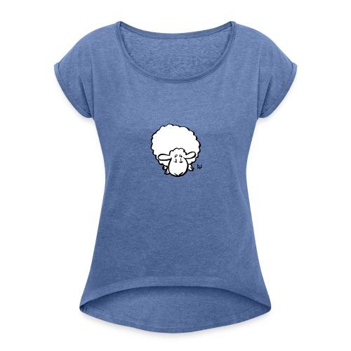 Owce - Koszulka damska z lekko podwiniętymi rękawami