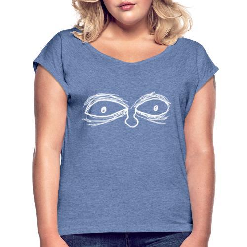 Eyes - Camiseta con manga enrollada mujer