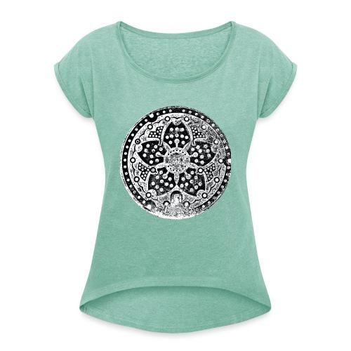 Adaiba Manhole - Frauen T-Shirt mit gerollten Ärmeln