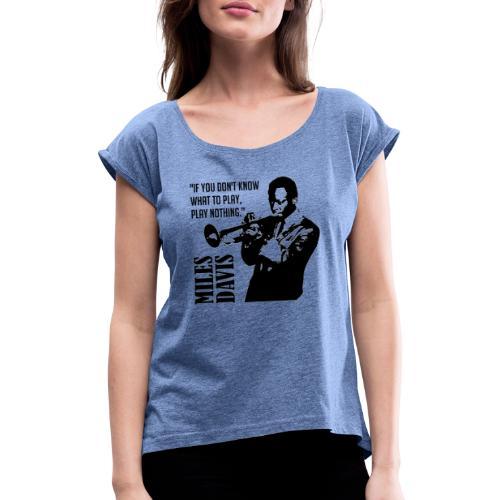 Miles Davis - T-shirt à manches retroussées Femme
