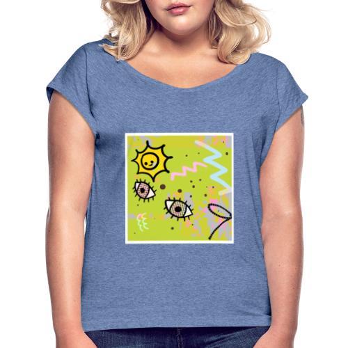 Childhood - T-shirt à manches retroussées Femme
