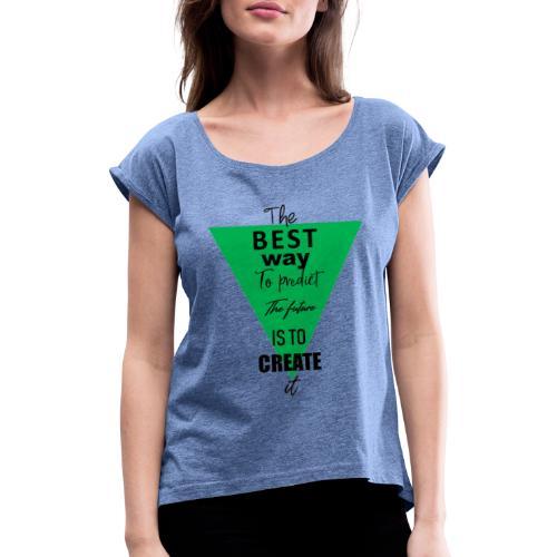 CREATE - T-shirt à manches retroussées Femme