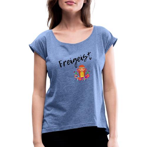 FreiGeist - Frauen T-Shirt mit gerollten Ärmeln