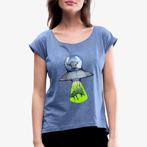 Alien, Reverse Abduction - Maglietta da donna con risvolti