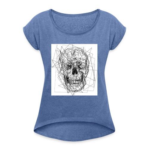 teschio - Maglietta da donna con risvolti