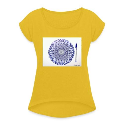 Creative T-shirt - T-shirt à manches retroussées Femme
