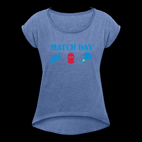 MatchDay - T-shirt med upprullade ärmar dam