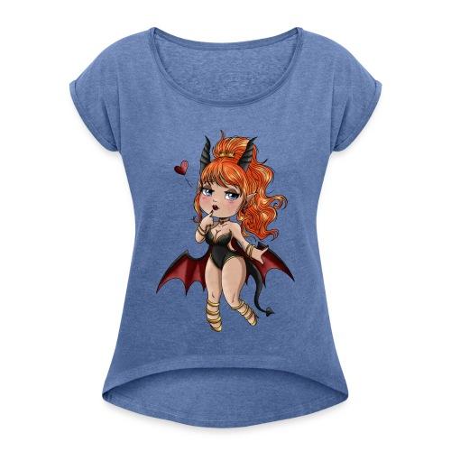 Chibi Diablesse - T-shirt à manches retroussées Femme