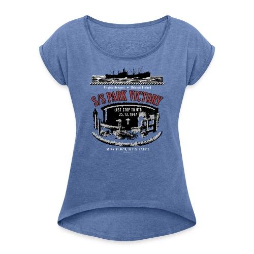 PARK VICTORY LAIVA - Tekstiilit ja lahjatuotteet - Naisten T-paita, jossa rullatut hihat