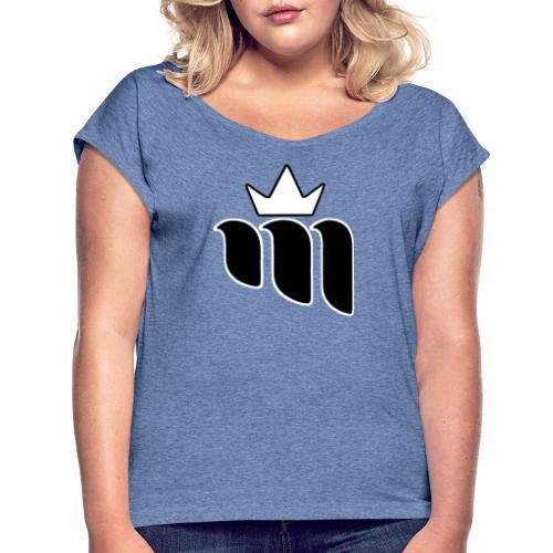 Mazze Essentials - Camiseta con manga enrollada mujer