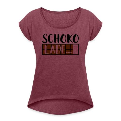 Schokolade Ladebalken Nerd Weihnachtsgeschenk - Frauen T-Shirt mit gerollten Ärmeln