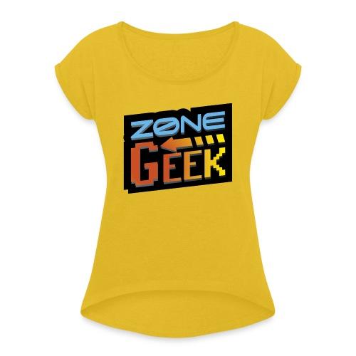 NEW Logo T-Shirt Femme - T-shirt à manches retroussées Femme