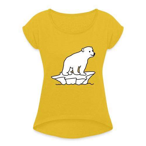 Eisbaer - Frauen T-Shirt mit gerollten Ärmeln