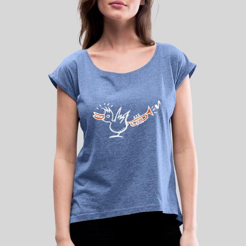 trompetenvogel - Frauen T-Shirt mit gerollten Ärmeln