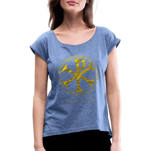 Chrisme or - T-shirt à manches retroussées Femme