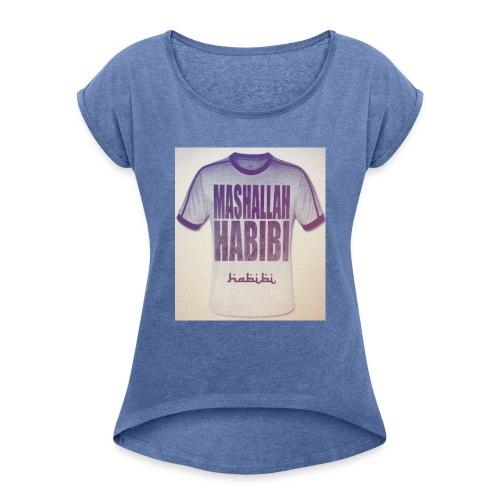 HABIBO TSHIRT - Frauen T-Shirt mit gerollten Ärmeln