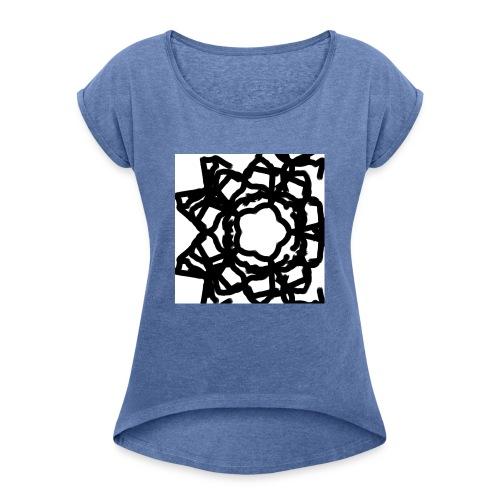 Sternenblume - Frauen T-Shirt mit gerollten Ärmeln